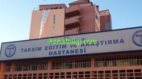 Taksim Ýlkyardým çatýsýnda eylem